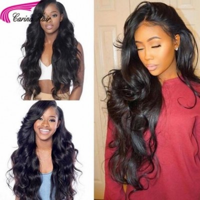 Brazilian Virgin Hair Lace Front Wigs Body Wave Human Hair Wigs For Black Women with Baby Hair