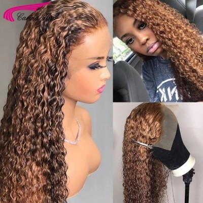 Carina highlight color luxury curly lace wigs for new year