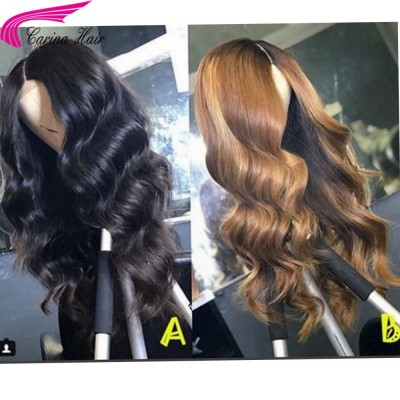 Body Wave Glueless Lace Wigs Brazilian Remy Human Hair Wigs for Women