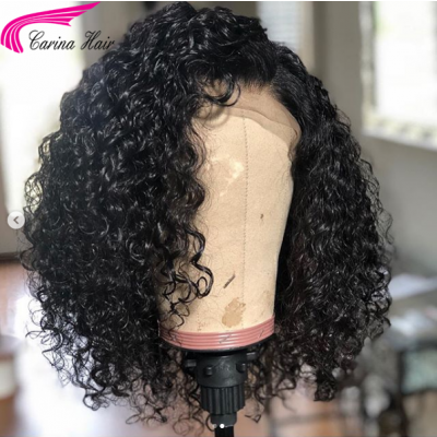 Short Curly Human Hair Lace Front Wigs Pre Plucked Full Lace Wigs 8-16''