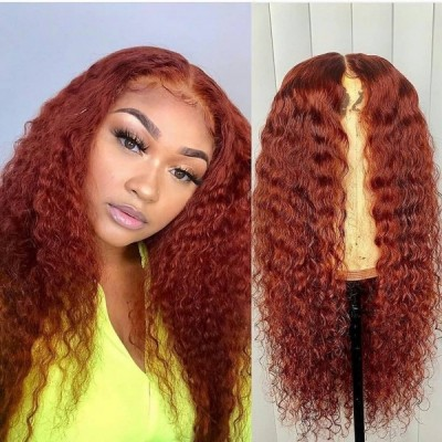 Carina Customized Curly Wig Virgin Hair Lace Front Wigs Pre-Plucked Hairline