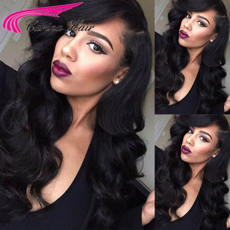 Brazilian Virgin Human Hair Body Wave Full Lace Wigs with Baby Hair