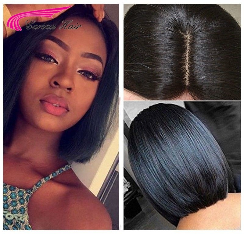 7A Straight Wigs Brazilian Remy Glueless Human Hair Lace Wigs For Black Women