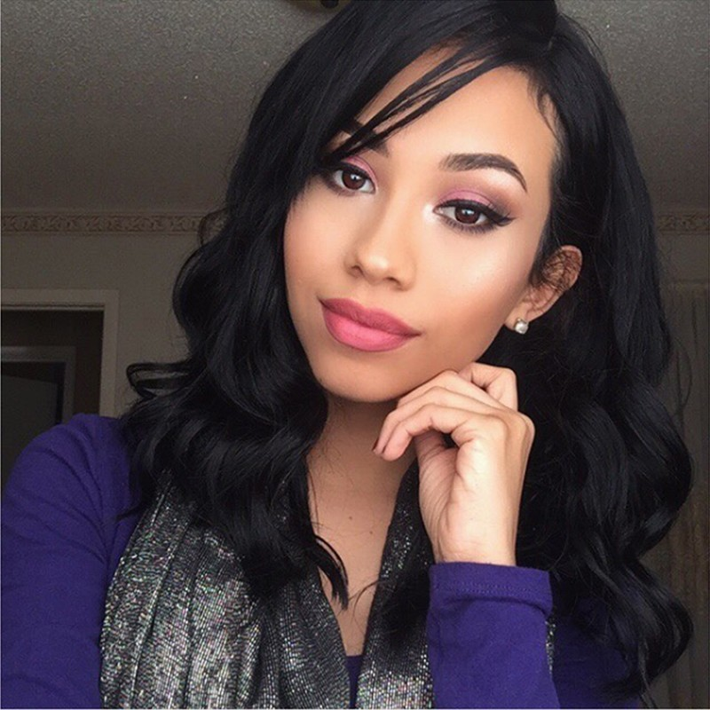 Short Bob Wigs Brazilian Remy Wave Human Hair Lace Front Wigs 8''-14''