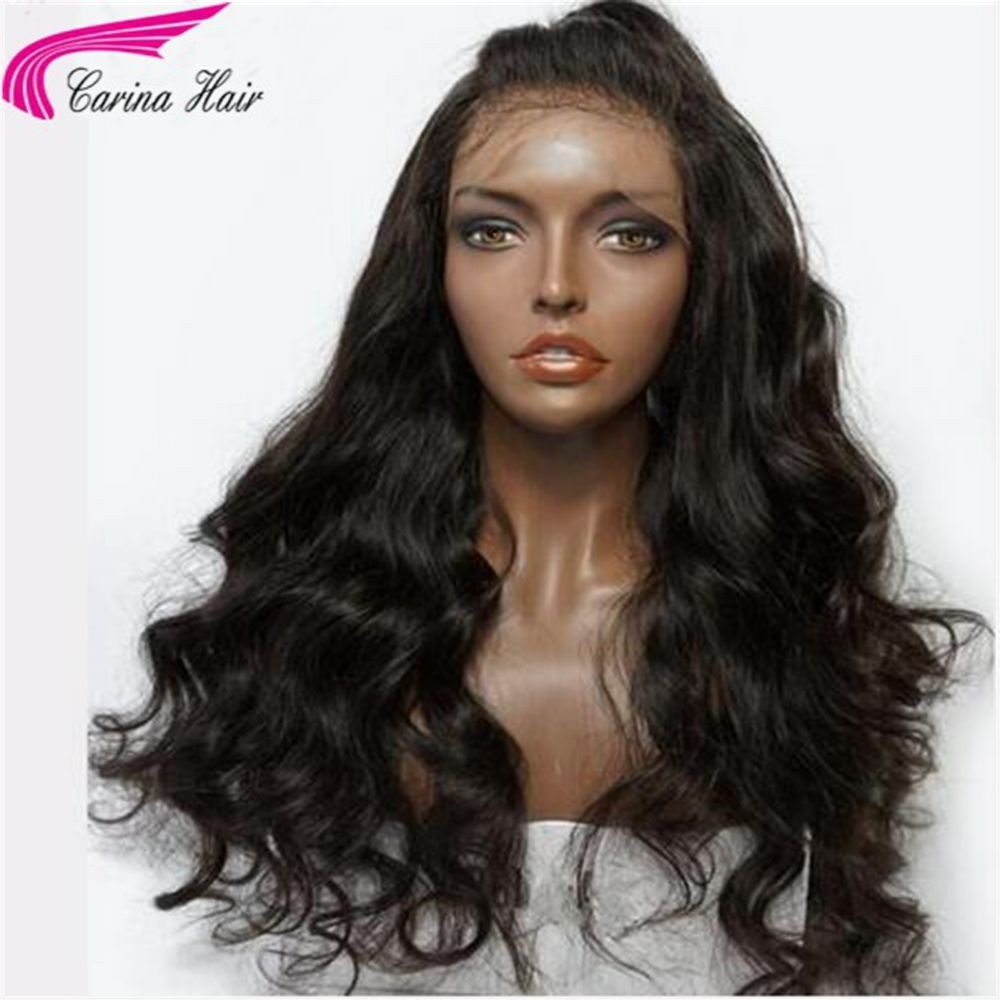 Loose Wave Human Hair Natural Colour Full Lace Wigs with Baby Hair for Black Women