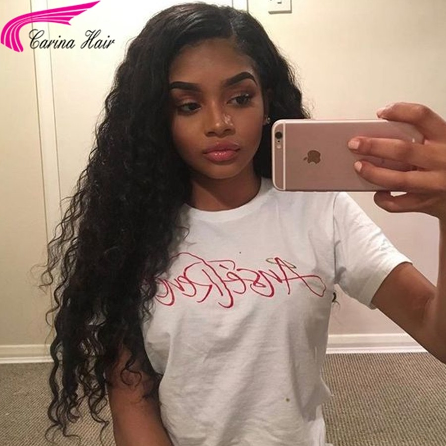 Deep Curly Human Hair Lace Front Wigs for Black Women Full Lace Wigs with Baby Hair Natural Color