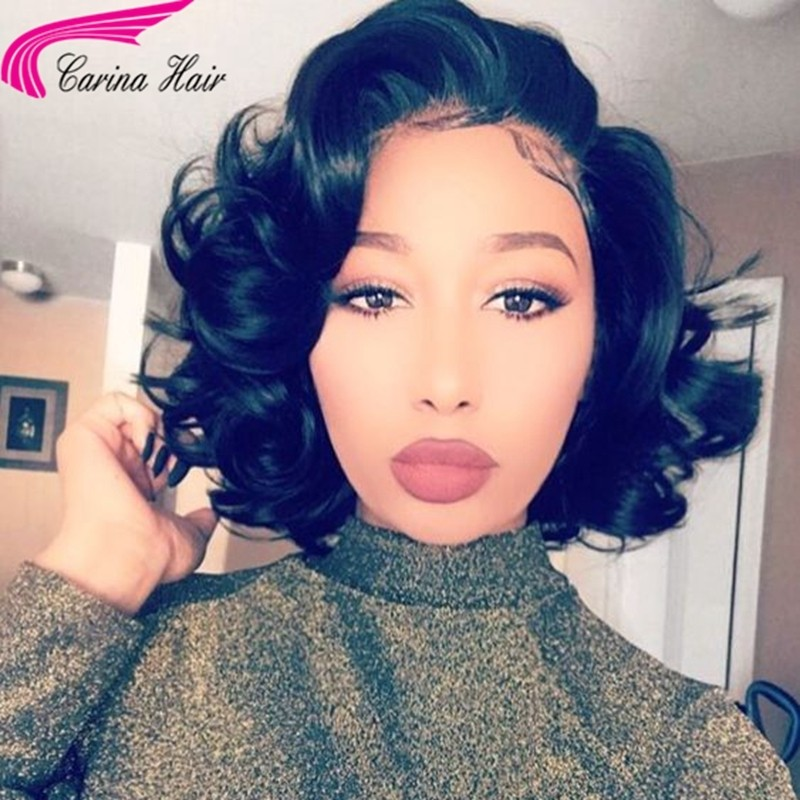 8-14'' Wave Lace Front Wigs Brazilian Remy Human Hair Full Lace Wigs 13x6 Deep Part Lace Frontal Wigs