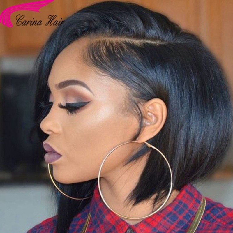 Short Bob Wigs Straight Human Hair Lace Wigs with Baby Hair 150%
