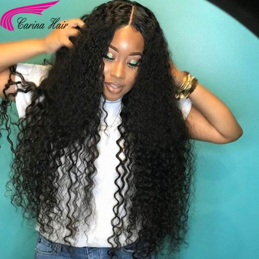 Brazilian Kinky Curly Human Hair Wigs with Baby Hair 180% Density Lace Front Wigs Remy Hair with Pre-plucked Hairline