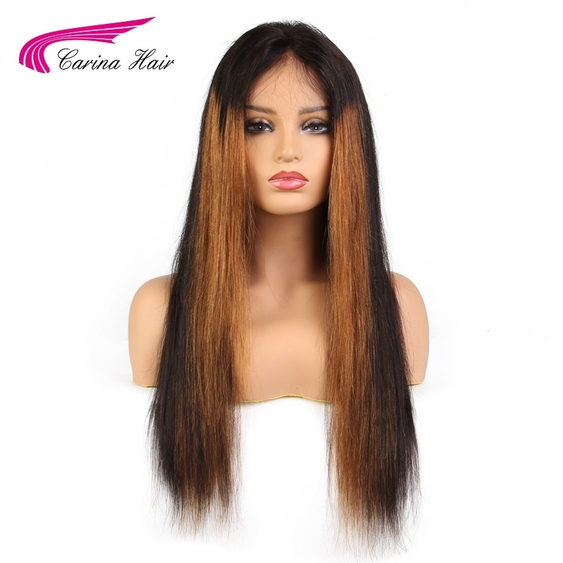 150%  Malaysian Straight Hair Lace Front Human Hair Wigs with Baby Hair Pre-Plucked Natural Hairline