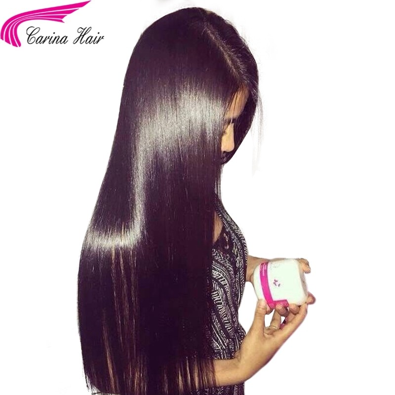 Human Hair Lace Front Wigs Brazilian Virgin Straight Glueless Lace Wig