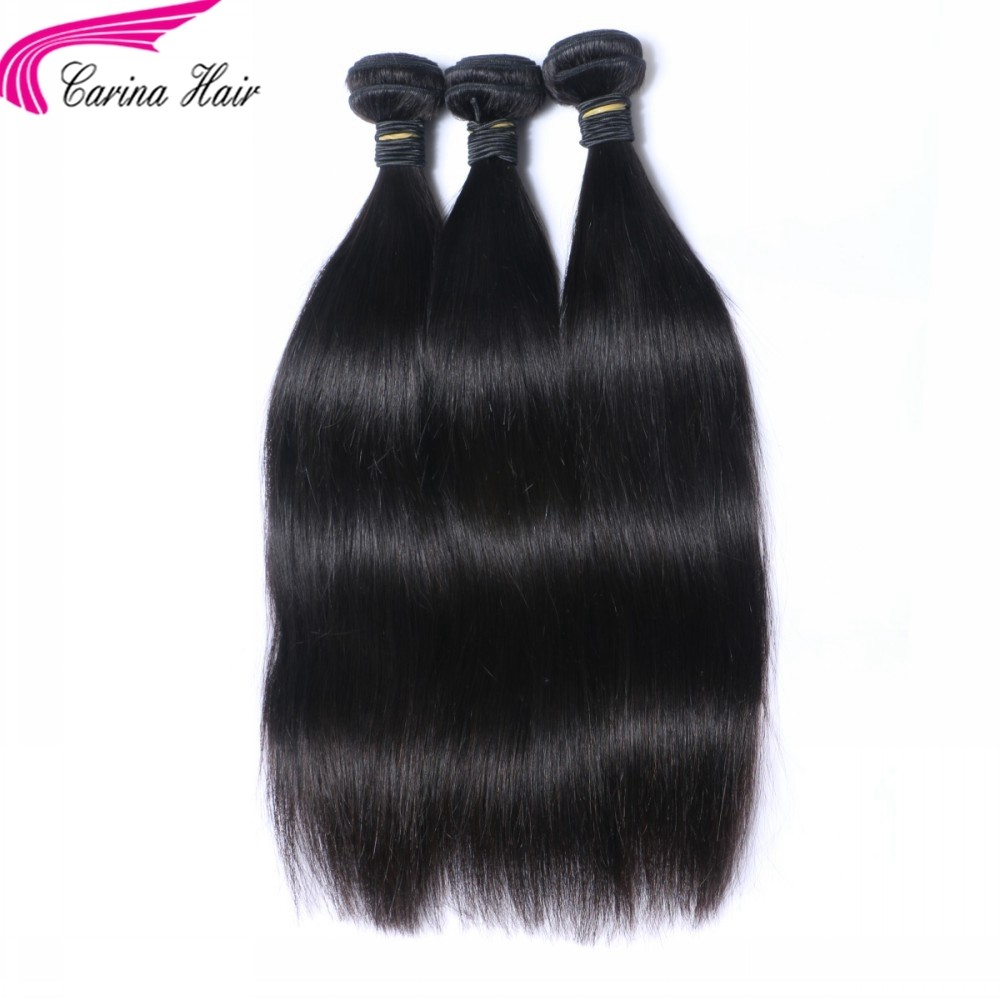 Straight Brazilian Hair Weave 3 Bundles Real Human Hair Extensions