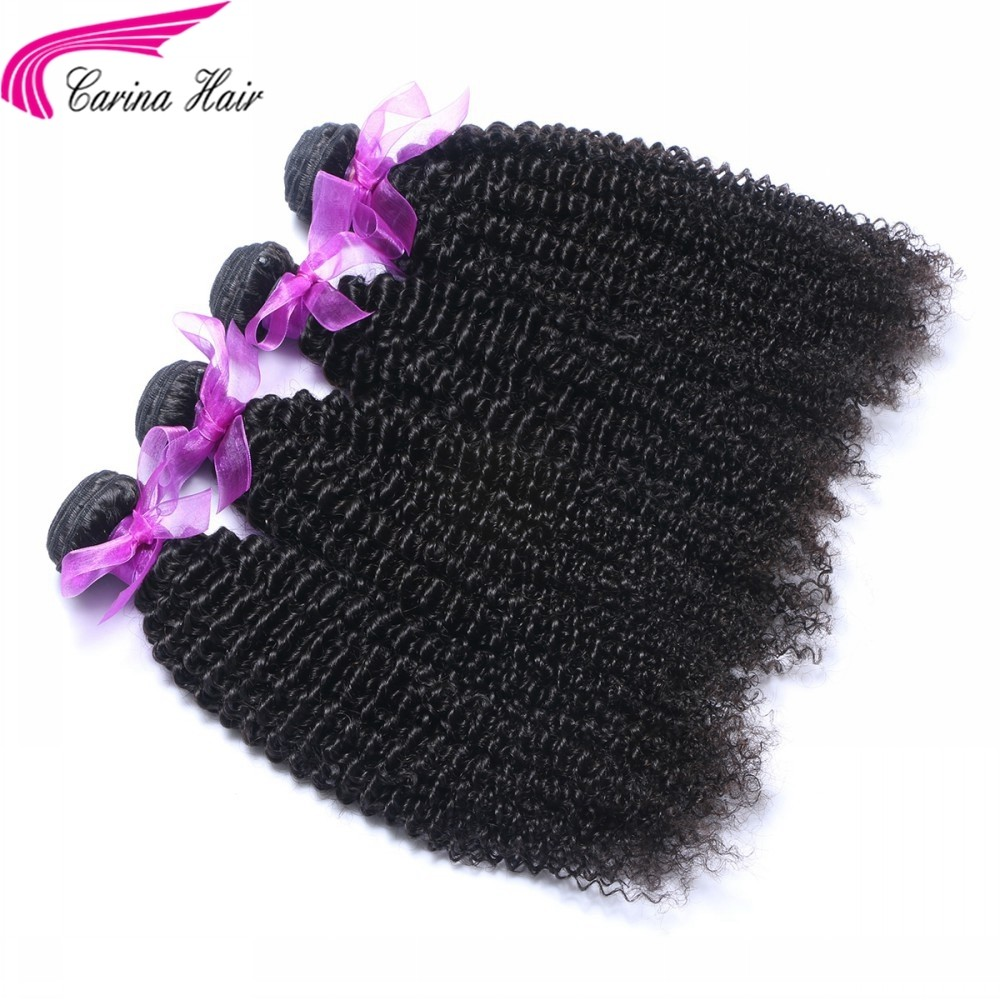 Kinky Curly Brazilian Hair Weave 4 Bundles Real Human Hair Extensions