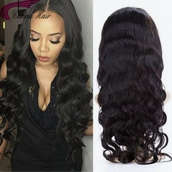Body Wave Full Lace Wigs with Baby Hair Remy Human Hair Pre-Plucked Hairline Glueless  Wigs