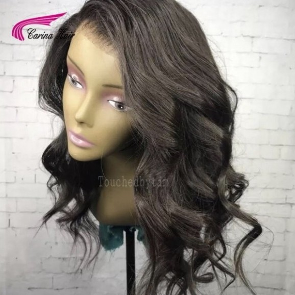 Full Lace Human Hair Wigs Loose Wave Glueless Lace Front Wig