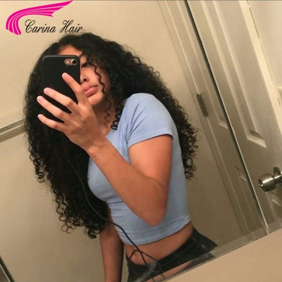 Brazilian Virgin Kinky Curly Human Hair Full Lace Wigs With Baby Hair Pre-plucked Hairline
