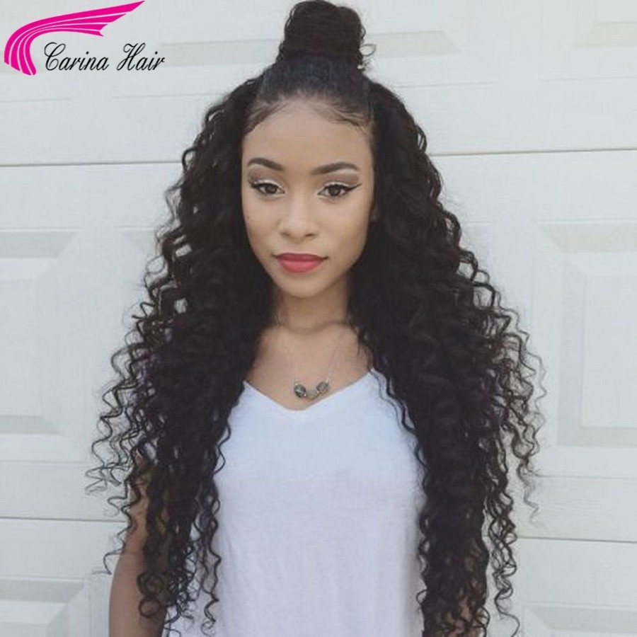 Loose Curly Lace Front Wigs for Black Women Brazilian Remy Human Hair Wigs with Baby Hair