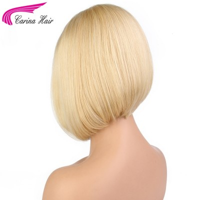 Straight 613 Blonde Lace Front Wig Brazilian Remy Human Hair Bob Wigs with Baby Hair