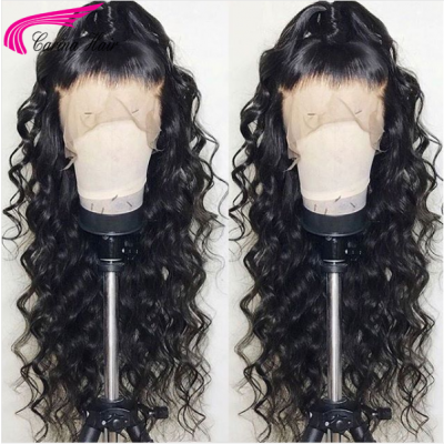 10A Human Hair Wigs Loose Wave Lace Wigs with Baby Hair pre-plucked bleach knots wigs
