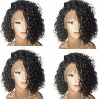 Short Curly Lace Front Human Hair Wigs With Baby Hair 8-16 Inch Remy Hair Brazilian Full Lace Wigs