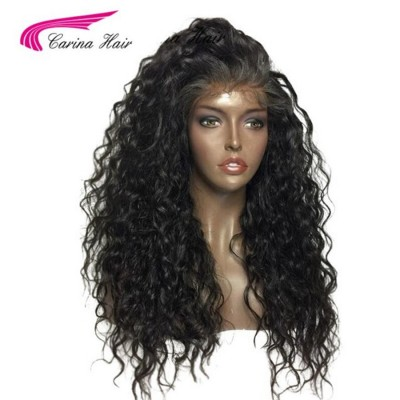 Carina Brazilian Curly Human Hair Lace Wigs with Baby Hair Pre Plucked Hairline