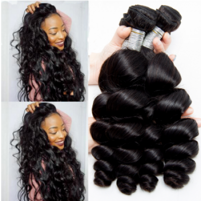 Loose Wave Brazilian Weave 4 Bundles 100% Human Hair Extensions