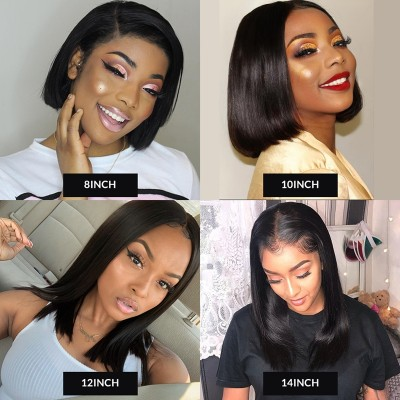 Carina Bob Virgin Hair Wigs Deep Part 13x6 Lace Frontal Human Hair Wigs