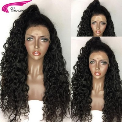 Brazilian Curly Human Hair Lace Wigs with Baby Hair Pre Plucked Hairline