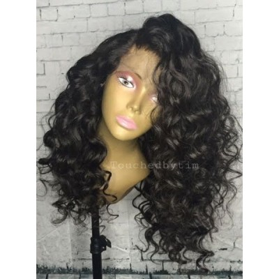 Loose Wave Lace Wigs Brazilian Remy Human Hair Wigs for Women