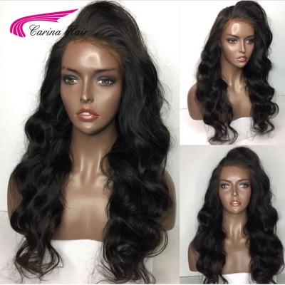 Carina Brazilian Remy Wave Human Hair Lace Wigs Pre-plucked Hairline For Black Women