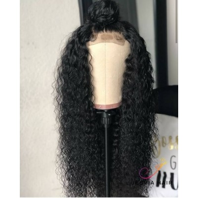 Curly Lace Front Wigs For Women  Pre Plucked Hairline Human Hair Wigs with Baby Hair