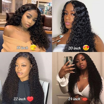 Carina Customized 360 Curly Wig Brazilian Remy Human Hair Lace Wigs Pre Plucked Hairline