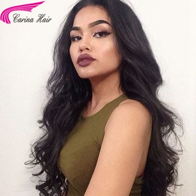 Loose Wave Human Hair Lace Wigs with Baby Hair Pre Plucked Hairline 130%