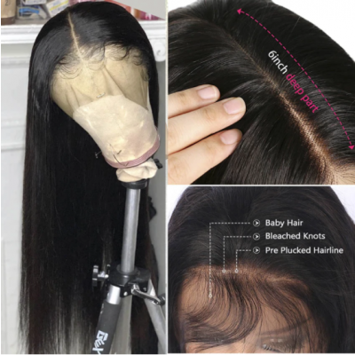 Carina New arrival luxury 13x6HD lace wigs super soft straight for black beauty