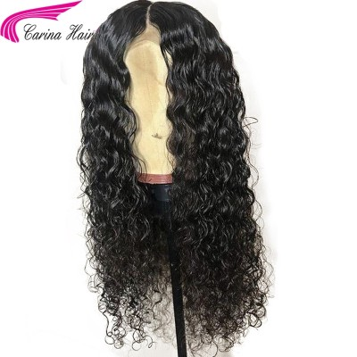 Carina Curly Human Hair Lace Front Wigs with Baby Hair Glueless Full Lace Wigs Pre Plucked Hairline
