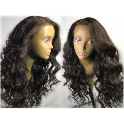 10A Human Hair Wigs Loose Wave Glueless Lace Wigs Pre Plucked Hairline