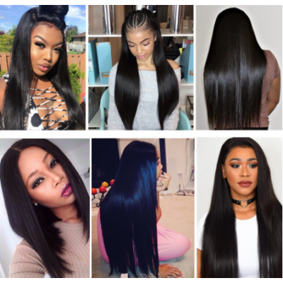 Carina Silky Straight Wigs Brazilian Remy Human Hair Lace Wigs