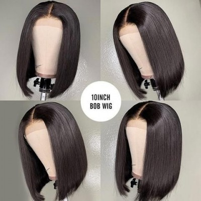 Carina Brazilian Bob Wigs Full Lace Wigs Pre Plucked Natural Hairline