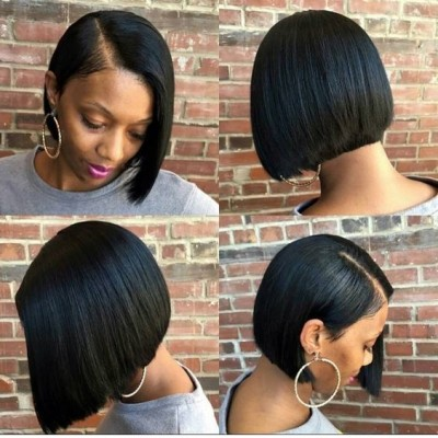 Carina 10A Transparent Lace Bob Wigs 13x6 Long Parting Virgin Human Hair Wigs