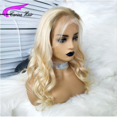 T4/ 613 Blonde Lace Front Wigs For Women With Baby Hair Wave Brazilian Virgin Human Hair Wigs