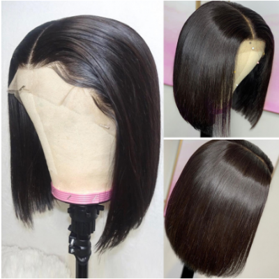 Carina Bob Wigs Brazilian Virgin Human Hair Lace Wigs Pre Plucked Hairline