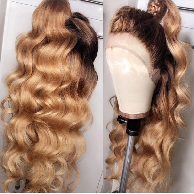 360 Wave Human Hair 150% Lace Wigs Pre Plucked Hairline