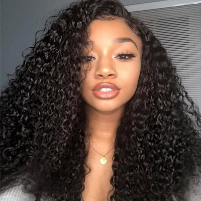 HD Lace Kinky Curly Human Hair Lace Front Wigs with Baby Hair Remy Full Lace Wigs
