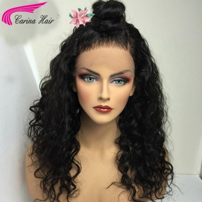 Water Wave 360 Lace Wig High Ponytail Brazilian Remy Human Hair Wigs with Baby Hair