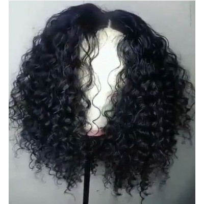Carina Customized Curly Bob Lace Wigs Brazilian Virgin Human Hair Lace Wigs with Baby Hair