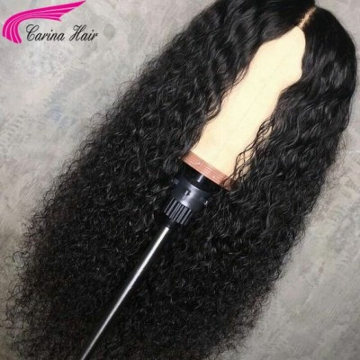 10A Curly Wig Brazilian Kinky Curly Virgin Human Hair Lace Wigs Pre Plucked Hairline