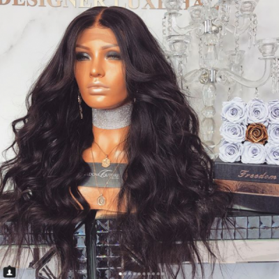 Carina Customized Wave Lace Front Wigs Brazilian Remy Human Hair Full Lace Wigs with Baby Hair