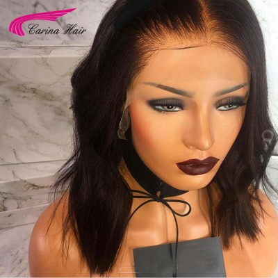 Carina 13X6 Deep Part Lace Front Wig Virgin Human Hair Bob Wigs With Baby Hair