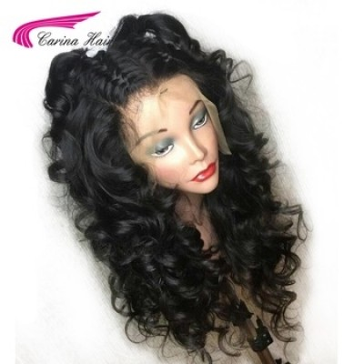 Brazilian Hair Loose Wave Lace Front Human Hair Wigs With Baby Hair Pre-Plucked Natural Hairline Glueless Wig Remy Hair