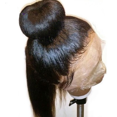 Pre Plucked Lace Front Human Hair Wigs With Baby Hair Brazilian Remy Hair Italian Light Yaki Straight Wigs